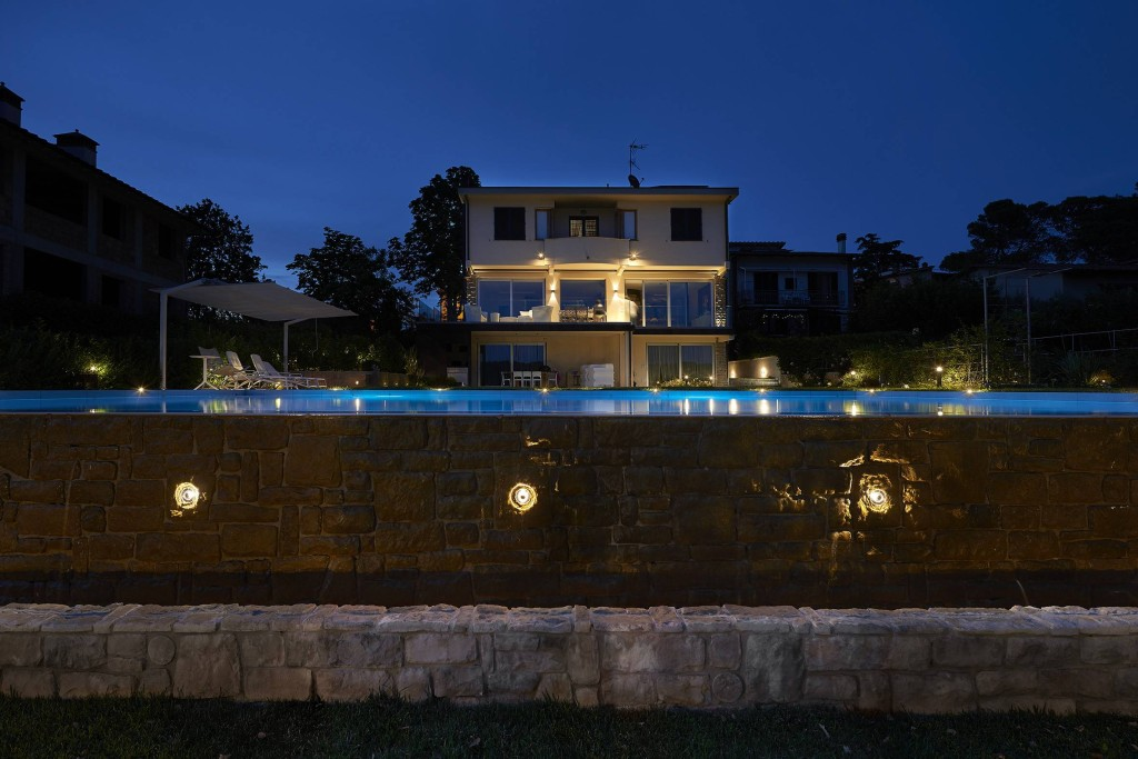 Private villa outdoor lighting